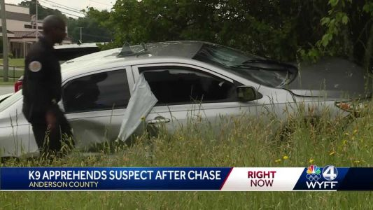 Police chase ends in crash near Westside High School in Anderson County, deputies say