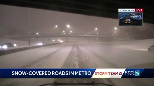 Police respond to dozens of storm-related crashes, says travel 'strongly discouraged'