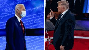 Dueling town halls showcase differences between Biden and Trump