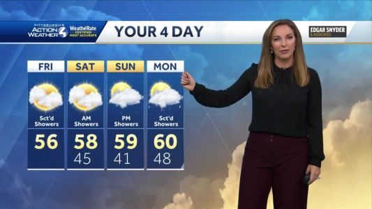 Cooler with rain this weekend in western Pa