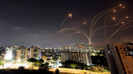 Israel bombs targets across Gaza after Hamas 'rocket barrage' & unrest in Jerusalem