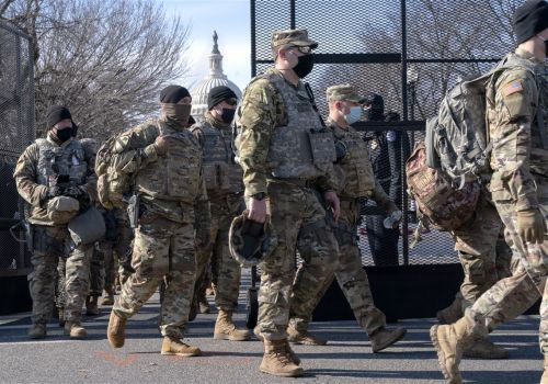 Guard troops pour into Washington as states answer the call