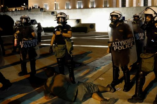 Greek protesters clash with cops over COVID-19 vaccines