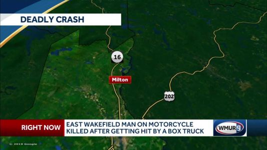 East Wakefield man on motorcycle killed after being hit by box truck