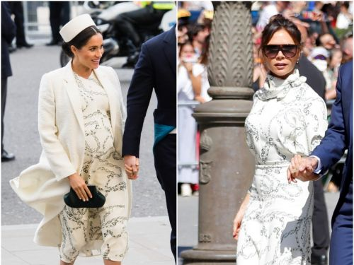 Victoria Beckham wore the same $2,000 dress as Markle Markle, and it looked completely different