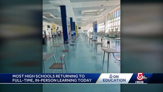 Andover High School welcomes students back to full-time in-person learning