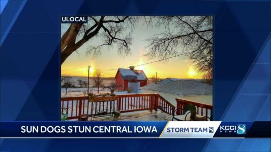 Sunday sun dogs stun central Iowa