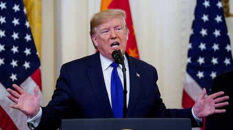 Sales for me, tariffs for thee? Trump says US 'OPEN FOR BUSINESS' & blasts China trade restrictions. as tariffs remain in place