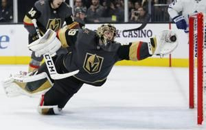 Fleury's big saves in 450th win lead Vegas past Leafs, 4-2