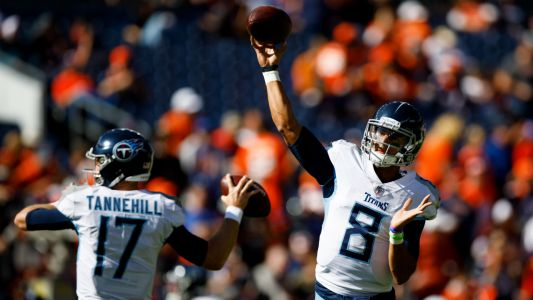Titans bench Marcus Mariota for Ryan Tannehill against Broncos