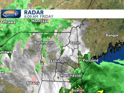 Nor'easter continues moving through NH: Wet snow for some, rain for others