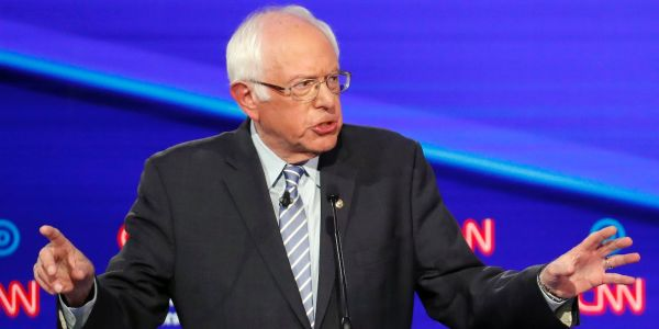 'I'm not on it tonight': Bernie Sanders insists he's not 'on' medical marijuana at Democratic debate
