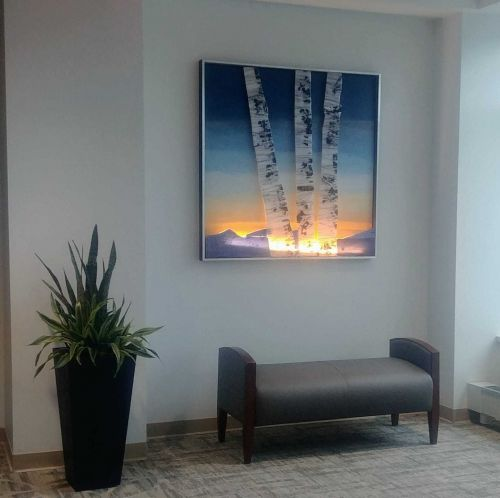 Fused glass art inspires peace, tranquility in waiting rooms
