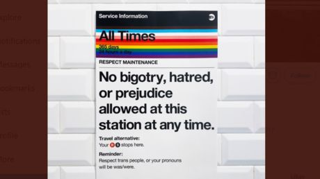 Slay, queen? Pride signs in New York subway suggest death threats to the transphobic
