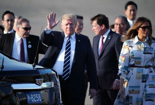 President Trump arrives in Tokyo for state visit, golf and sumo