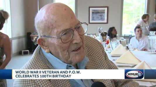 WWII veteran and former POW celebrates 100th birthday