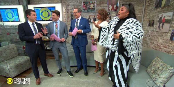 Pete Buttigieg joked he's '100% that nominee' while meeting pop star Lizzo on the set of 'CBS: This Morning'