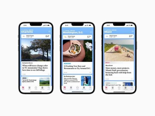 Apple News is expanding its local coverage to three new cities