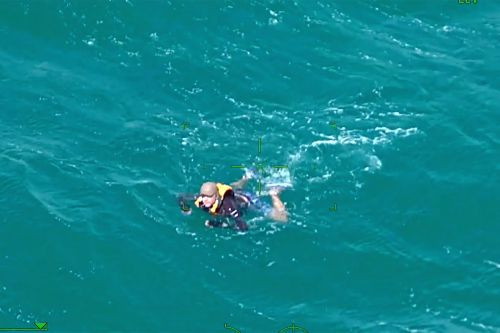 New Zealand kayaker found miles from his boat, treading water for over an hour