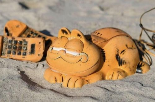 Mystery solved! Why a bunch of Garfield phones washed up on a