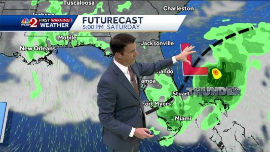 Mostly dry Saturday, system to bring storms Sunday