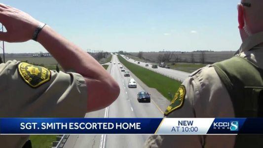 ISP sergeant's body escorted home from state medical examiner's lab