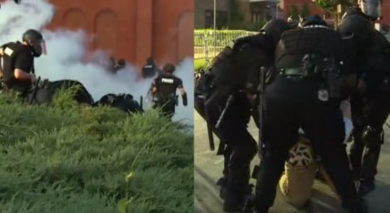 LIVE: Police use pepper bullets while addressing large crowd at District 1 during day 2 of protests
