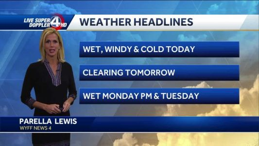 Videocast: Wet windy and cold today