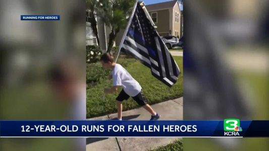 12-year-old runs a mile for every fallen first responder