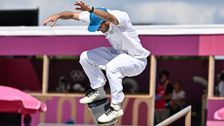 The Aerials, Slides And Wipeouts Of Skateboarding's First Olympics