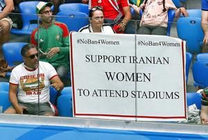 For first time since 1980, Iranian women allowed to watch World Cup in same stadium as men