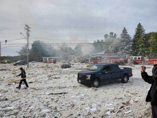 3 firefighters hurt in Maine explosion are in critical condition, hospital says