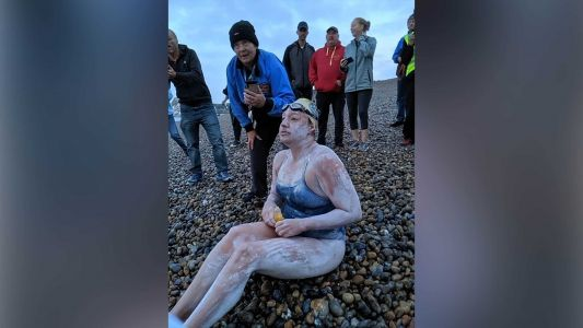 American survives cancer, becomes 1st person to swim English Channel 4 times nonstop