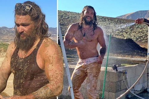 Jason Momoa hoses off in the mud and more star snaps