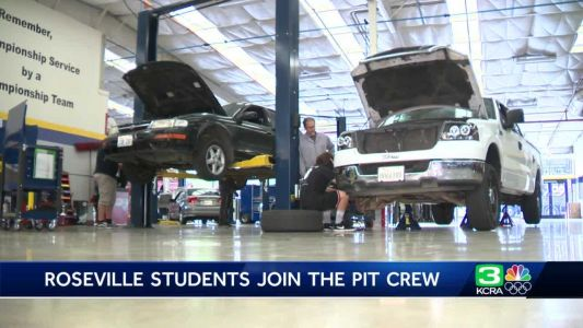 High school auto shop students join NASCAR in Roseville