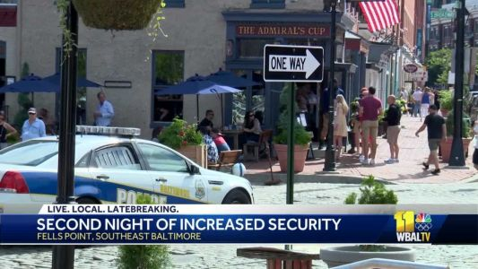 Reaction mixed over heavy police presence in Fells Point