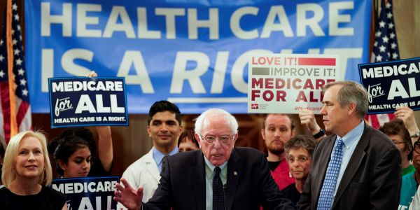 The 4 Democratic presidential candidates who cosponsored Bernie Sanders' Medicare for All Senate bill either no longer support it or won't say if they do