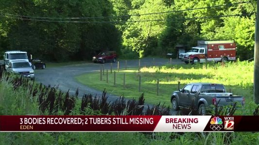 3 bodies pulled from Dan River after tubers go over Rockingham County dam, 2 remain missing