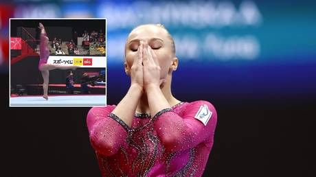'I'll have a ready-made protest in future' - Russian gymnast Melnikova on judging row amid claims 'optical illusion' cost her gold