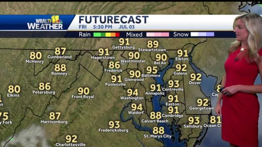 Pop up showers possible July Fourth