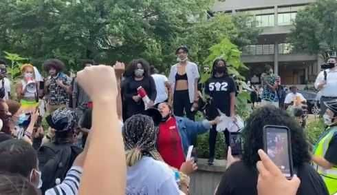 WATCH: Protesters take to downtown Louisville after LMPD announces crackdown on marches, caravans