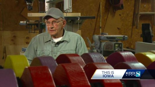 Iowa man completes mission to craft 10,000 wooden cars for kids