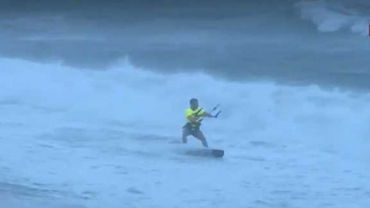 WATCH: Kite surfers hit the water at Florida beach as tropical storm nears