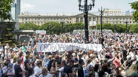 Thousands join fresh rally in Russia's Khabarovsk over arrested governor Furgal