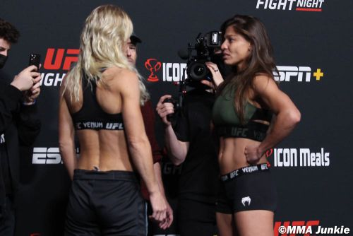 UFC Fight Night 195 weigh-in faceoff highlights and photo gallery