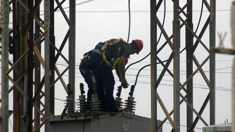 Russian worker narrowly ESCAPES DEATH after 6,000-volt electric shock