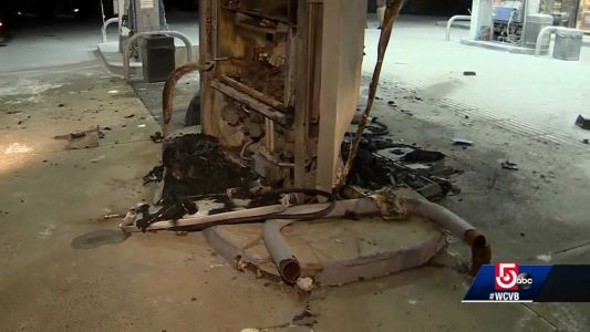 Driver crashes into gas station pumps, flees scene, police say