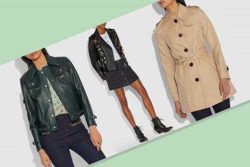 Coach sale takes 50% off trench coats and leather jackets