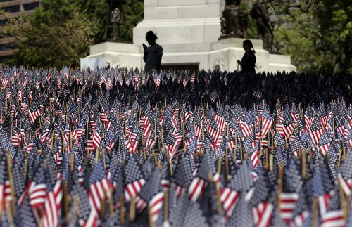 Boston's Memorial Day flag garden idea spreads across the US