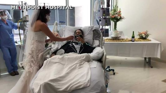 He got COVID-19 the week of his wedding. Hospital workers made sure he was still able to say 'I do'